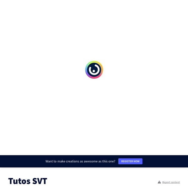 Tutos SVT