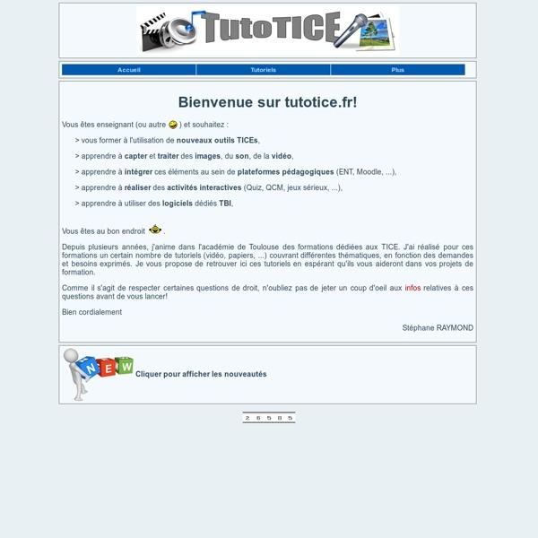 TutoTICE: le site de tutoriels TICE pour enseignants
