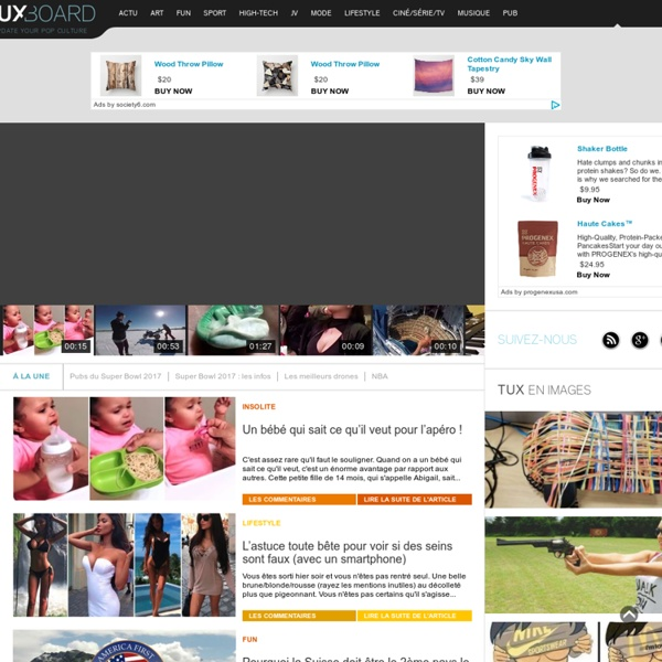 Tuxboard - Blog Fun - Actus fraîches - Sport / Insolite / Art / High-Tech