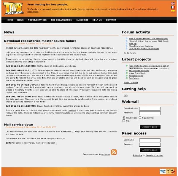 TuxFamily : l'hébergement libre pour les gens libres