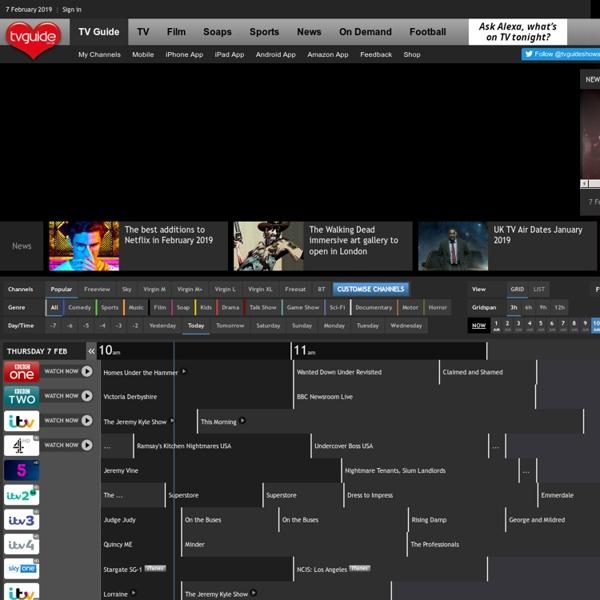 TV Guide UK TV Listings - UK's No 1 TV Listing site for Freeview, Sky, Virgin Media, Freesat & Tiscali TV