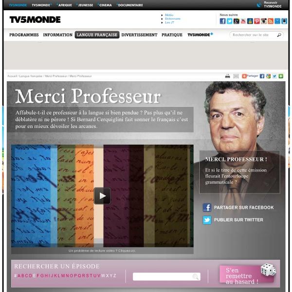 MONDE - Langue Française - Merci Professeur ! - Après que