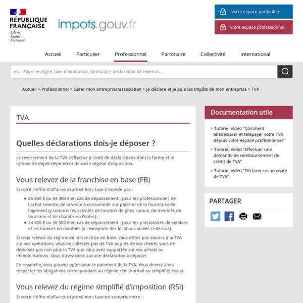 Déclaration TVA (Impots.gouv)
