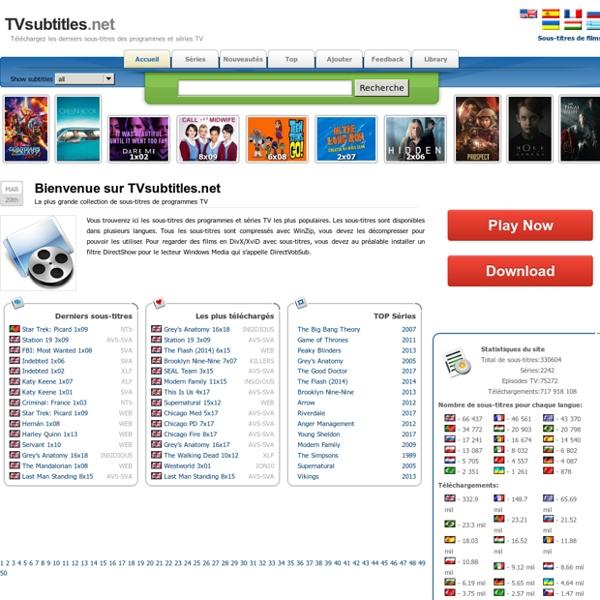 TVsubtitles.net - Téléchargez les derniers sous-titres des programmes et séries TV