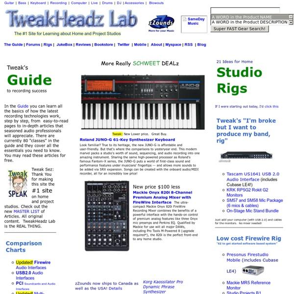 TweakHeadz Lab Electronic Musician's Hangout