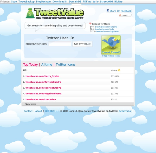 How much is your Twitter profile worth?