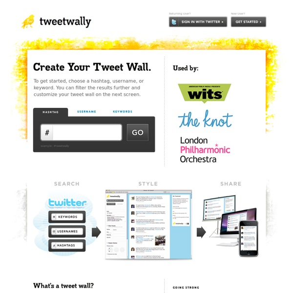 Tweetwally - Create a Tweetwall to Organize and Present Tweets