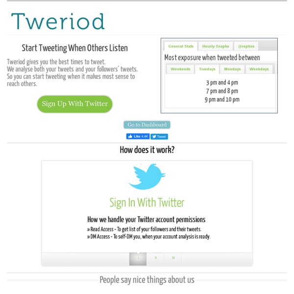Tweriod - Get to know when your Twitter followers are online the most.