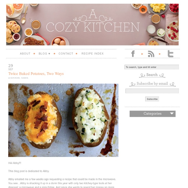 Twice Baked Potatoes, Two Ways