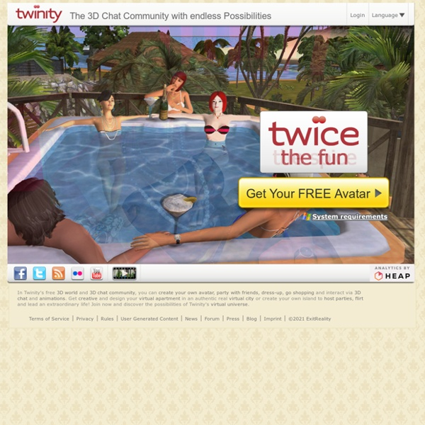 Twinity - Virtual World with Avatars, free 3D Chat and Real Cities to meet new people and flirt.