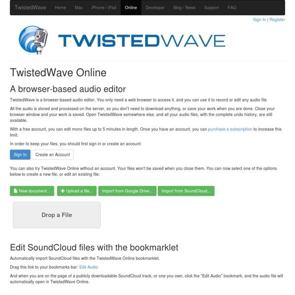 Online Audio Editor