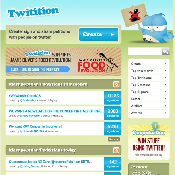 Twitition - sign petitions using twitter