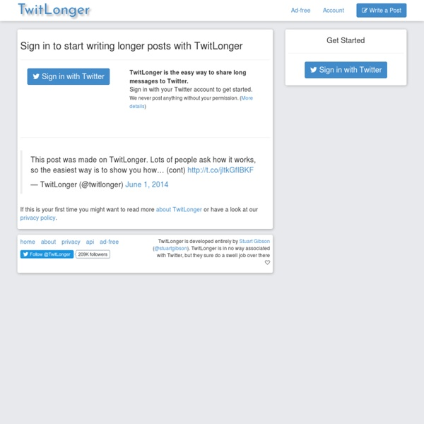 TwitLonger - When you talk too much for Twitter