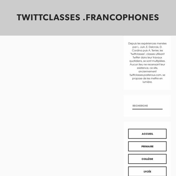 Twittclasses .francophones