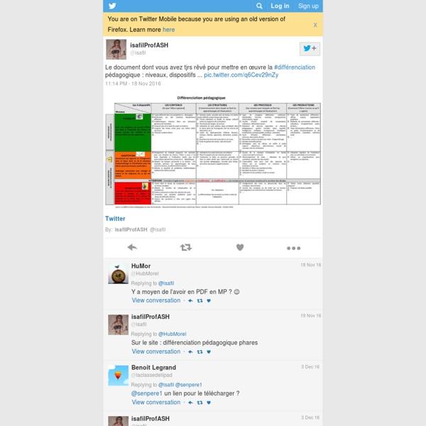Le document dont vous avez tjrs rêvé pour mettre en œuvre la #différenciation pédagogique : niveaux, dispositifs ...