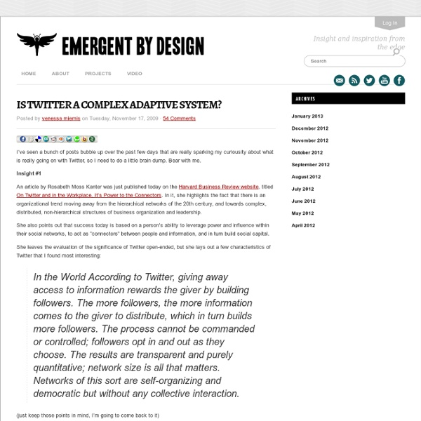 Is Twitter a Complex Adaptive System