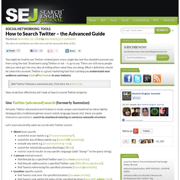 How to Search Twitter – the Advanced Guide