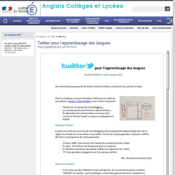 Twitter pour l'apprentissage des langues