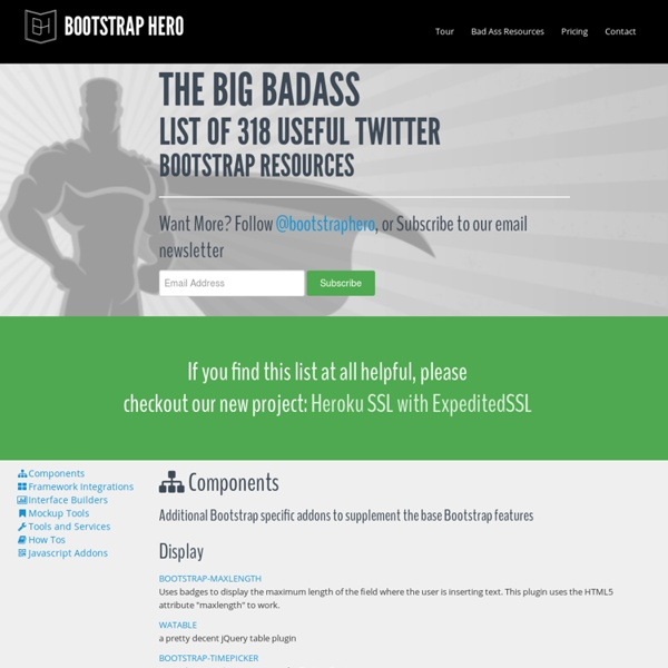 The Big Badass List of Twitter Bootstrap Resources