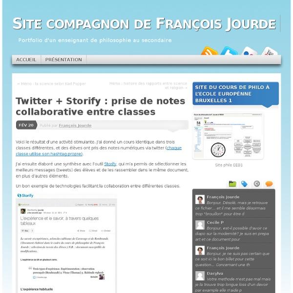 Twitter + Storify : prise de notes collaborative entre classes
