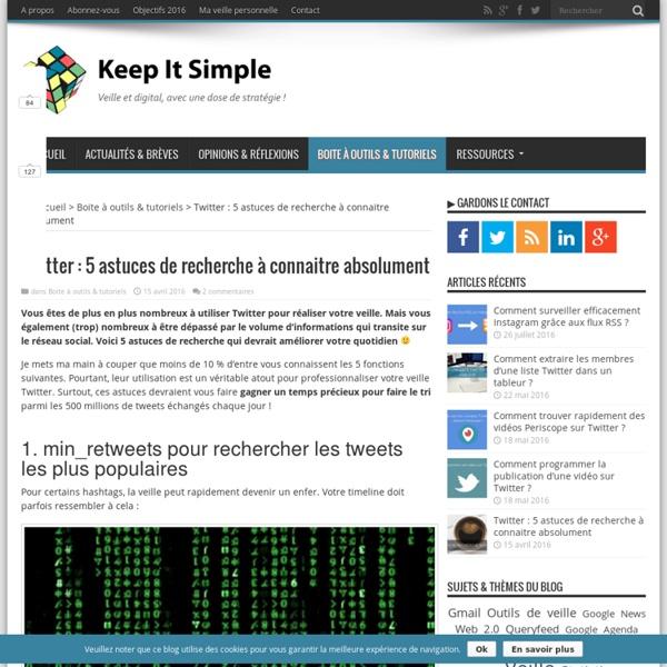 Twitter : 5 astuces de recherche à connaitre
