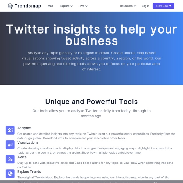 Real-time local Twitter trends - Trendsmap