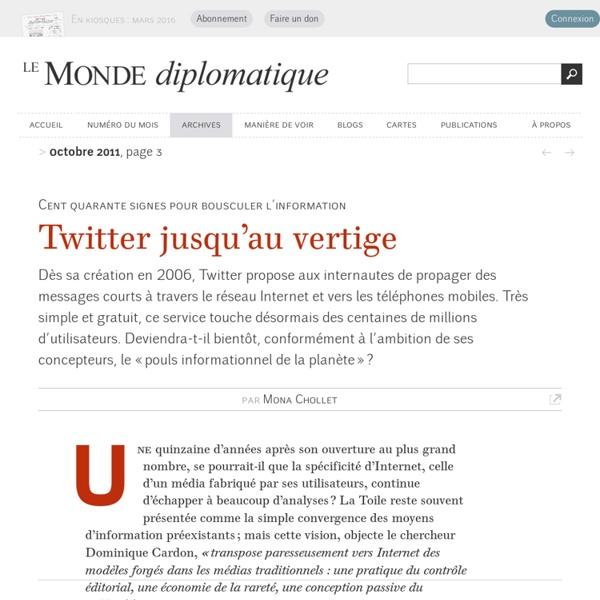 Twitter jusqu'au vertige, par Mona Chollet