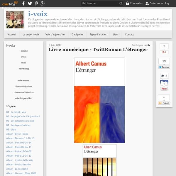 Albert Camus - Réécriture de L'étranger (i-voix)