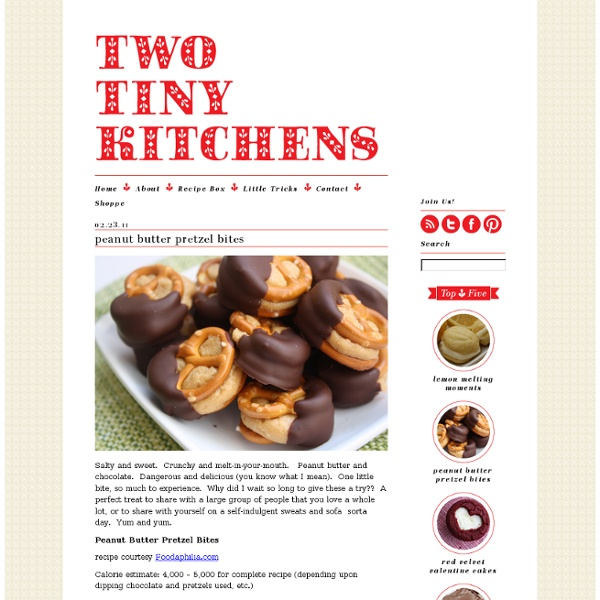 Peanut butter pretzel bites « Two Tiny Kitchens