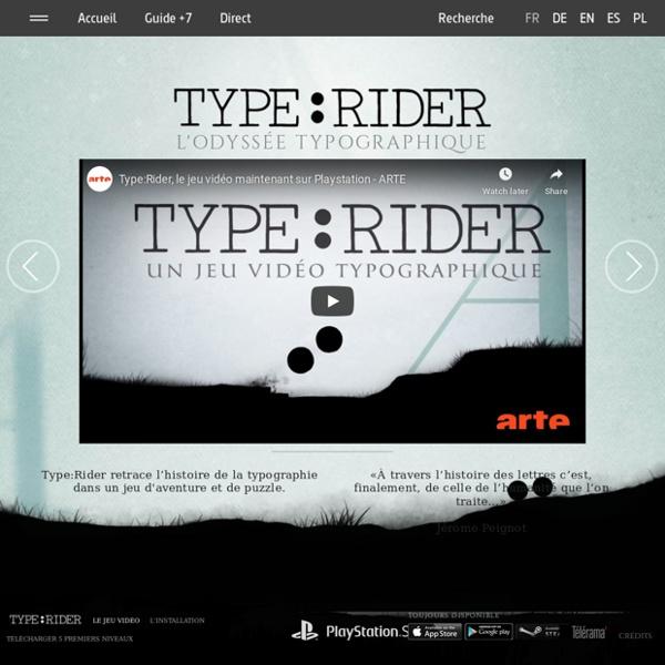 Type:Rider, un jeu vidéo typographique – Le jeu