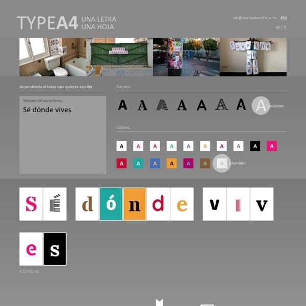 TypeA4 - Una Letra Una Hoja