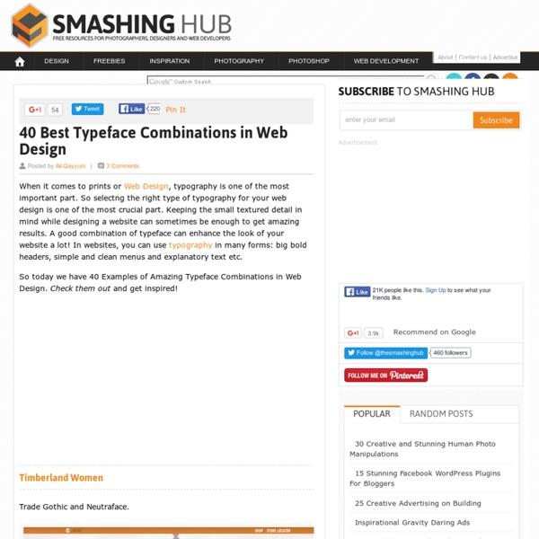 40 Best Typeface Combinations in Web Design