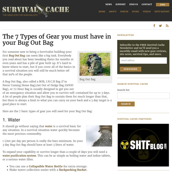 Bug Out Bag – The 7 Types of Gear You Must Have to Survive
