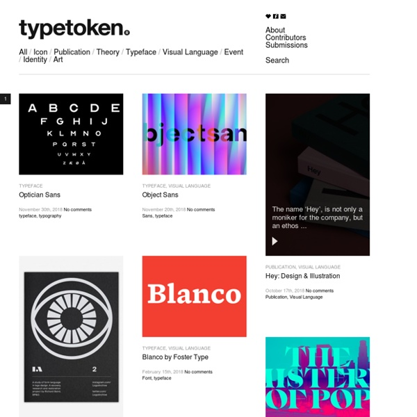 Showcasing & discussing the world of typography, icons and visual language