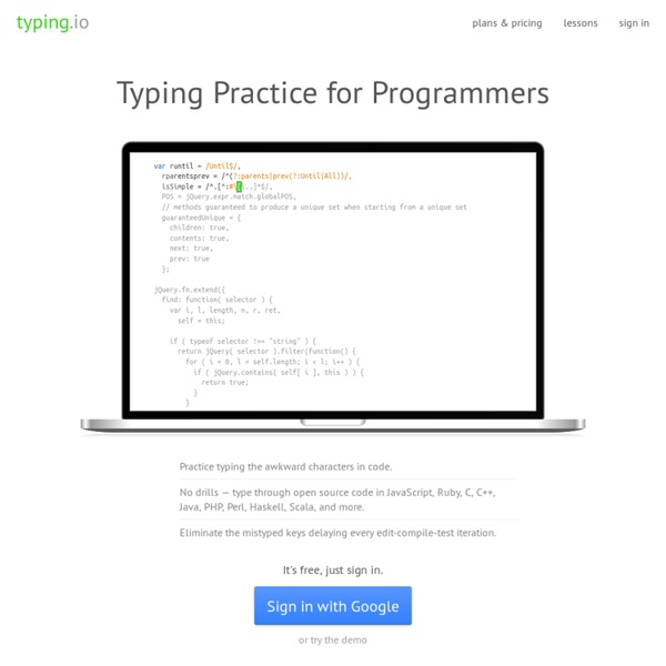 Typing Practice for Programmers