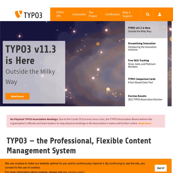 TYPO3 - The Enterprise Open Source CMS