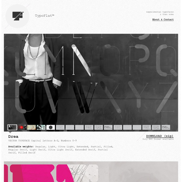 TypoFlat™ / experimental typefaces & then some