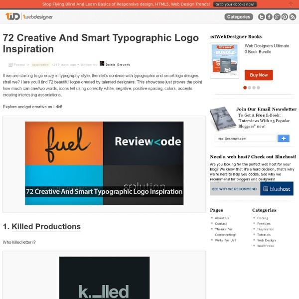72 Creative And Smart Typographic Logo Inspiration