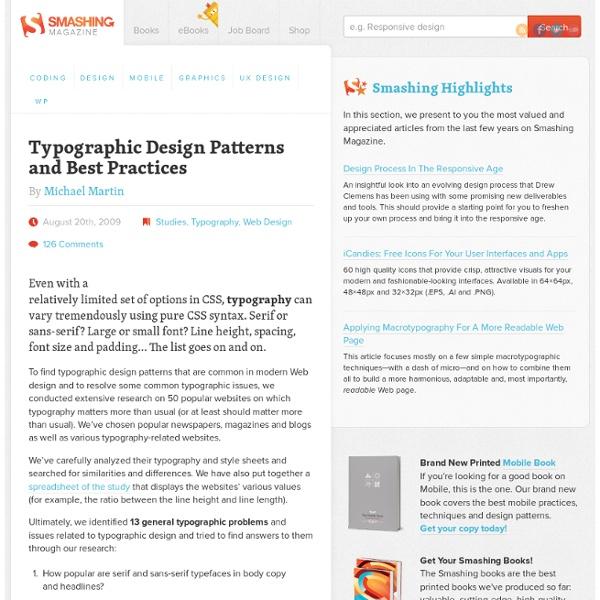 Typographic Design Patterns and Best Practices - Smashing Magazine