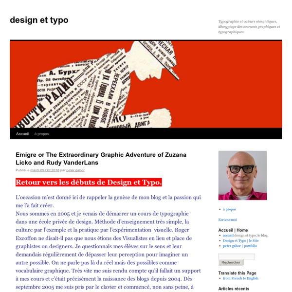 Typographie et valeurs sémantiques, décryptage des courants graphiques et typographiques