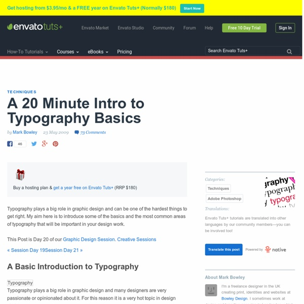 A 20 Minute Intro to Typography Basics