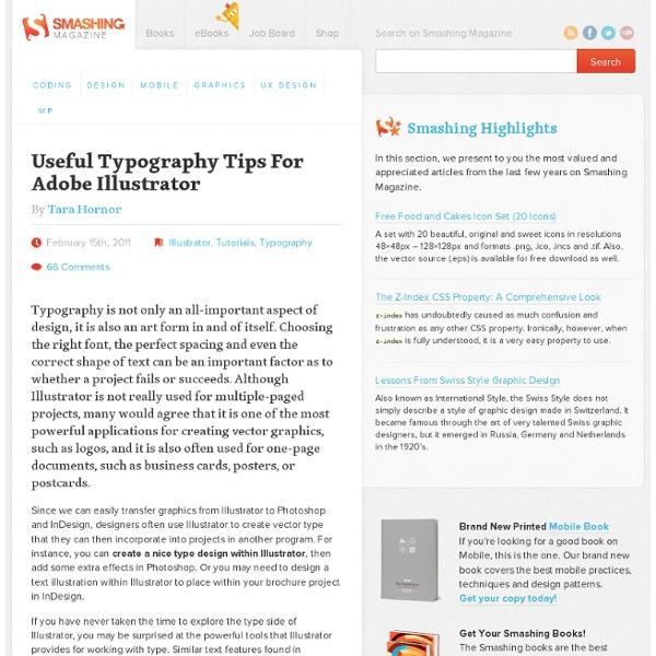 Useful Typography Tips For Adobe Illustrator - Smashing Magazine