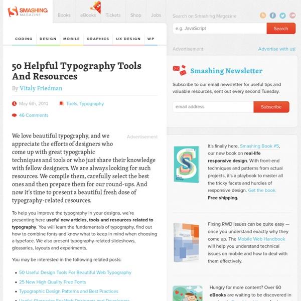 50 Helpful Typography Tools And Resources - Smashing Magazine