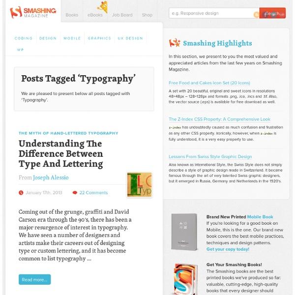 Typography - Smashing Magazine