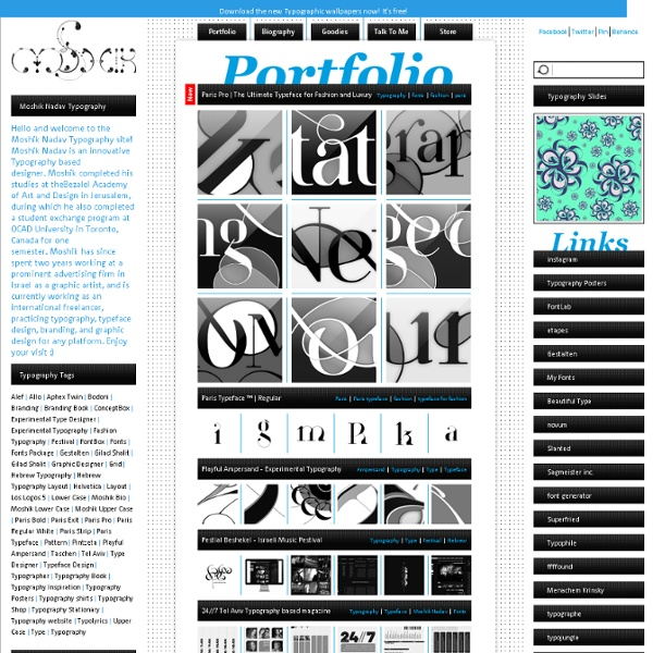 Typeface and Typography based Graphic designer