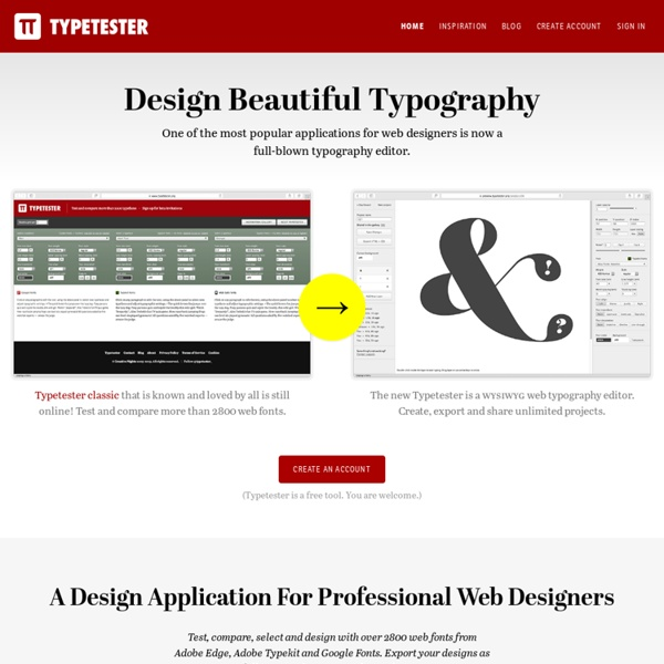 Typetester – Compare fonts for the screen