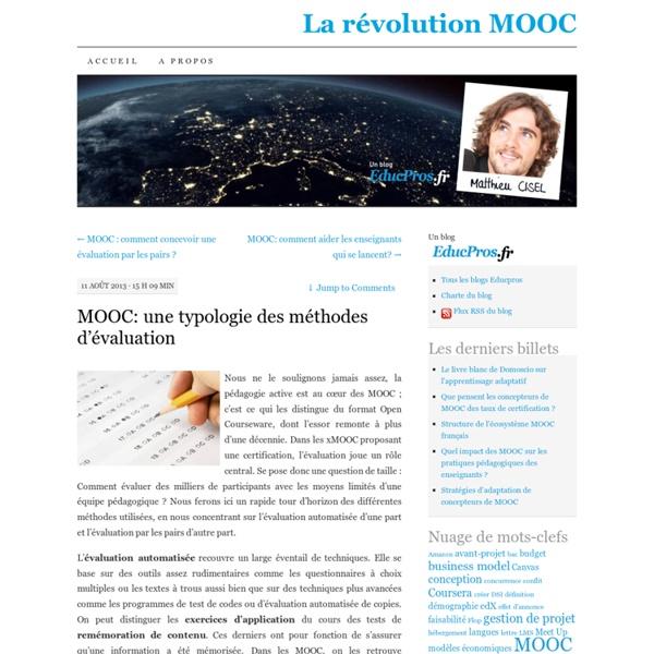 MOOC: une typologie des méthodes d'évaluation
