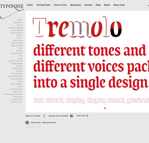 Typonine font foundry