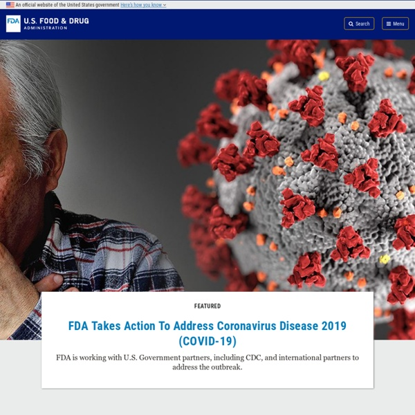 U S Food and Drug Administration Home Page