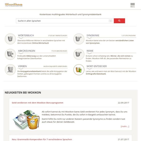 Online-Wörterbuch Erhalten Sie Definitionen aus einer der umfangreichsten online Deutsch Wörterbuch Sammlungen des Internets.